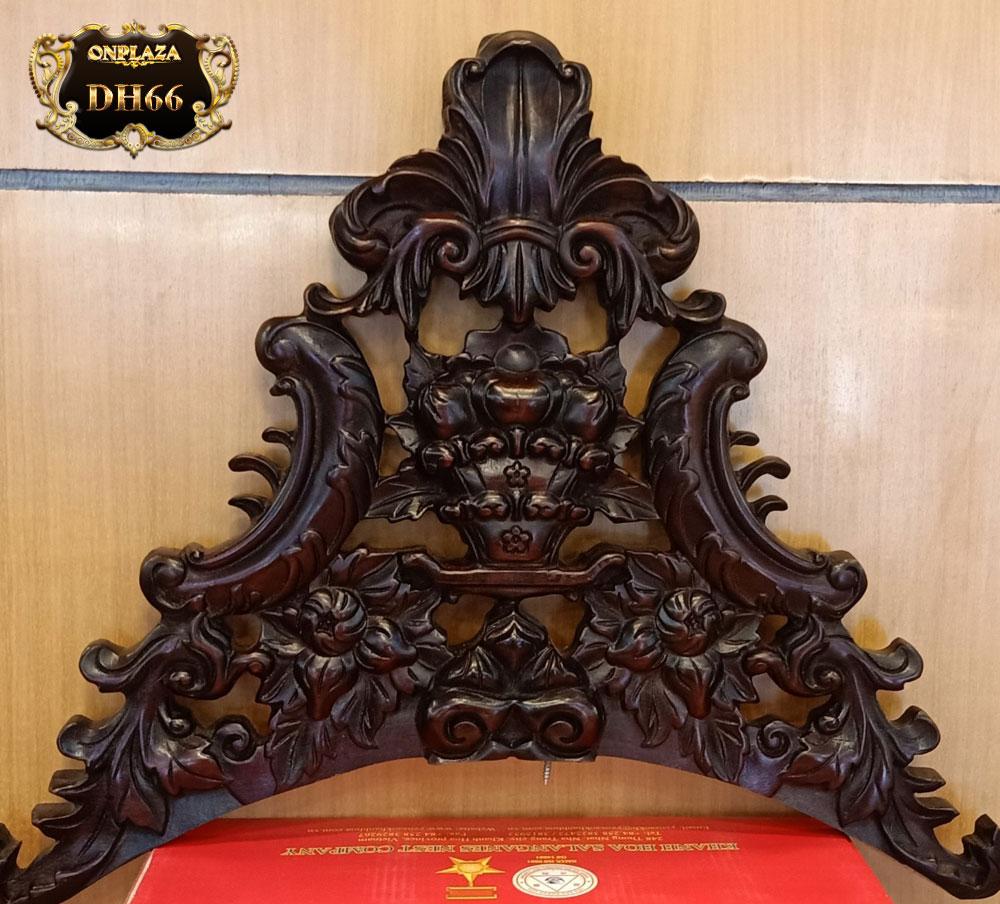 Đồng hồ cây gỗ gụ máy cơ cổ size đại DH66