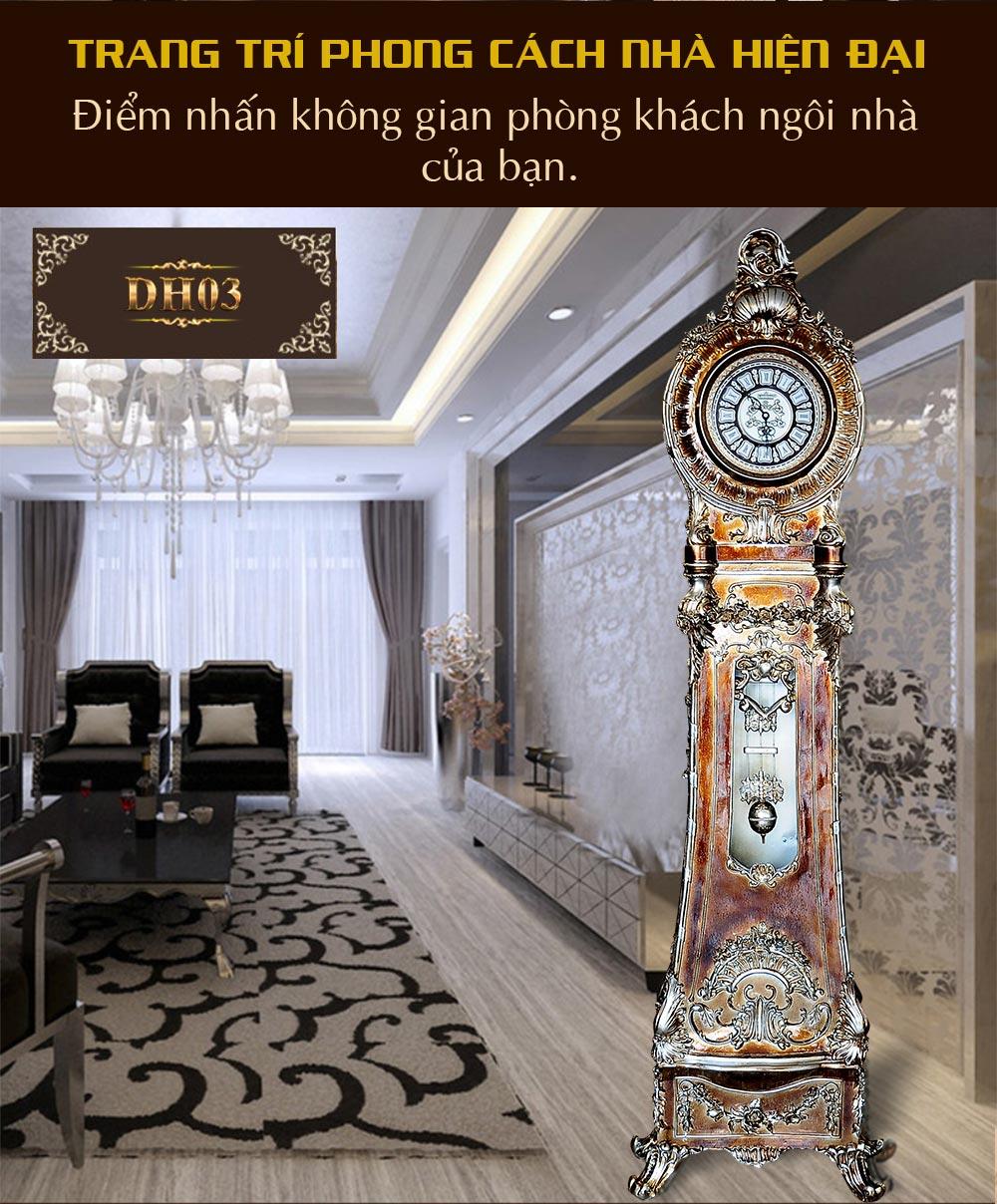 Đồng hồ cây DH03 giả cổ phong cách hoàng gia cổ điển