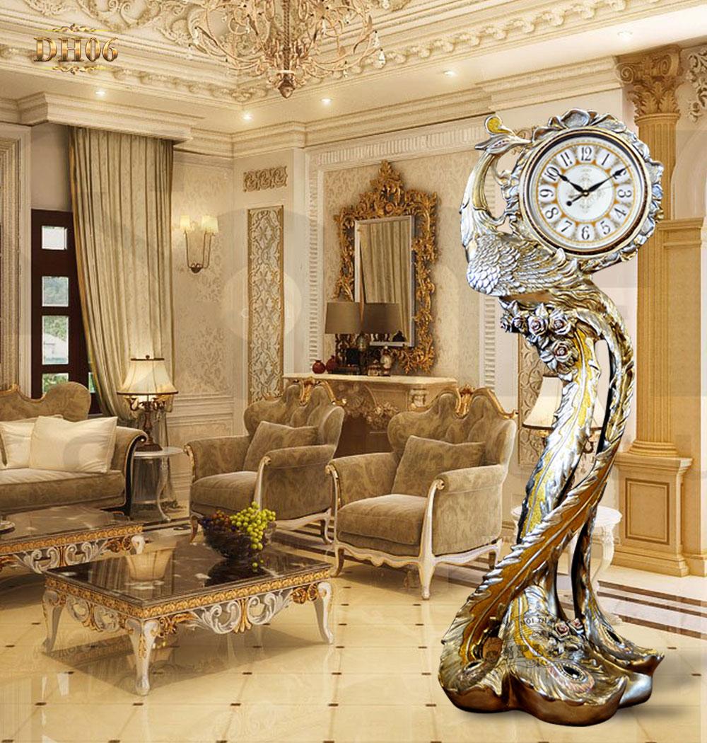 Đồng hồ cây DH06 kiểu dáng vũ điệu chim phượng hoàng