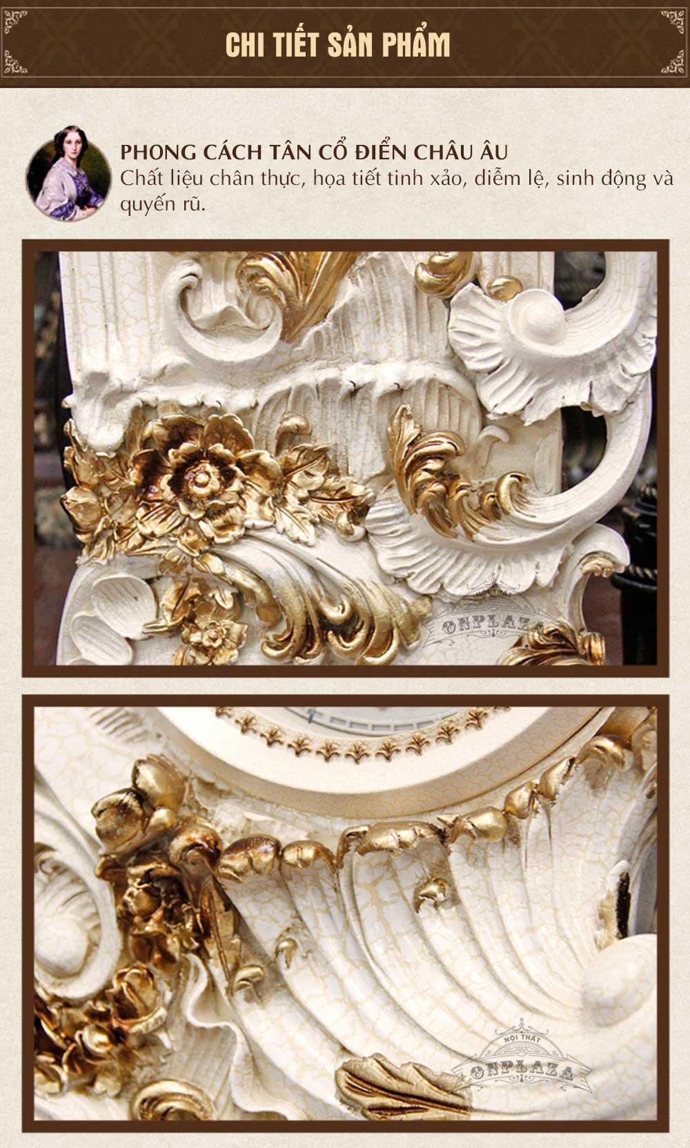 Đồng hồ cây DH07 tân cổ điển phong cách châu Âu