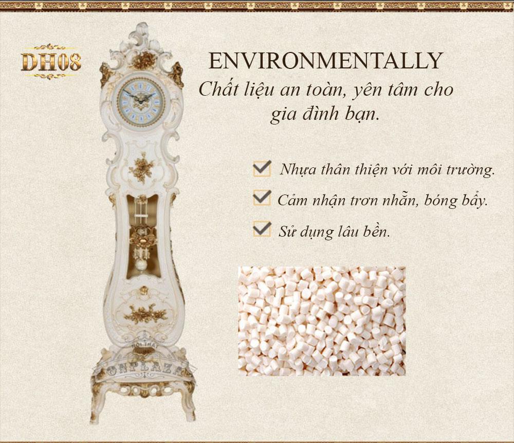 Đồng hồ cây DH08 tân cổ điển kiểu đàn phong cách hiện đại