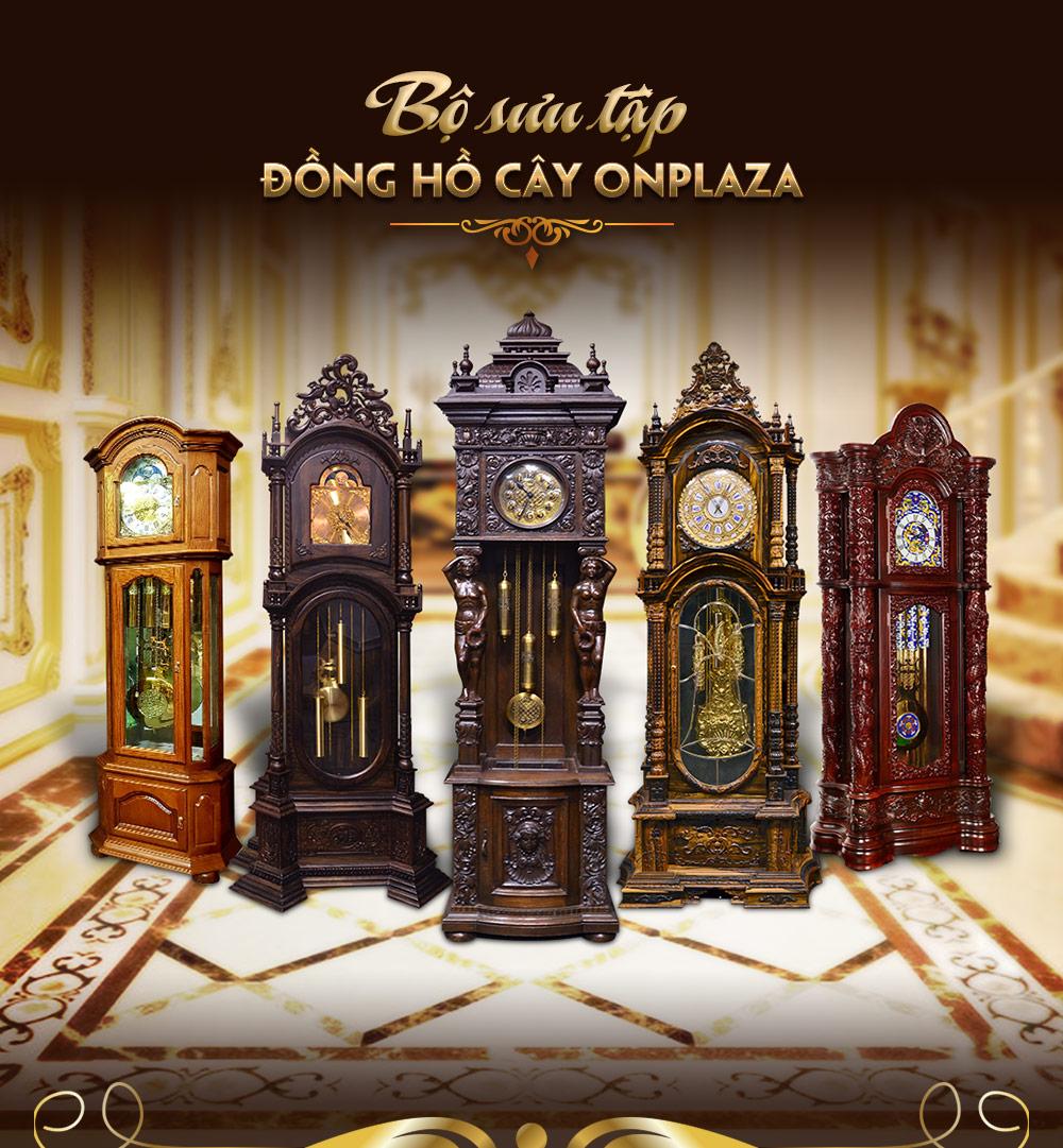 Đồng hồ quả lắc cổ điển Pháp DH27 gỗ mun hoa nhập khẩu