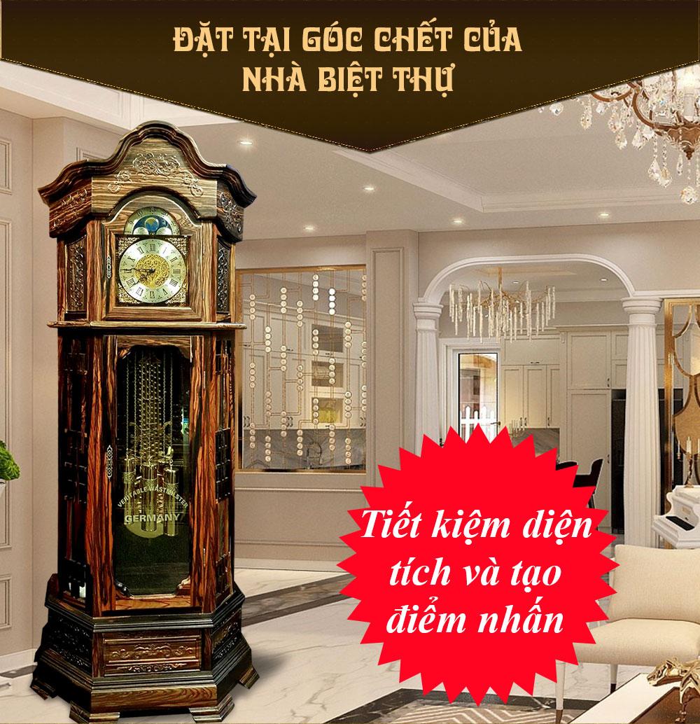 Đồng hồ cây máy cơ cổ Đức DH48