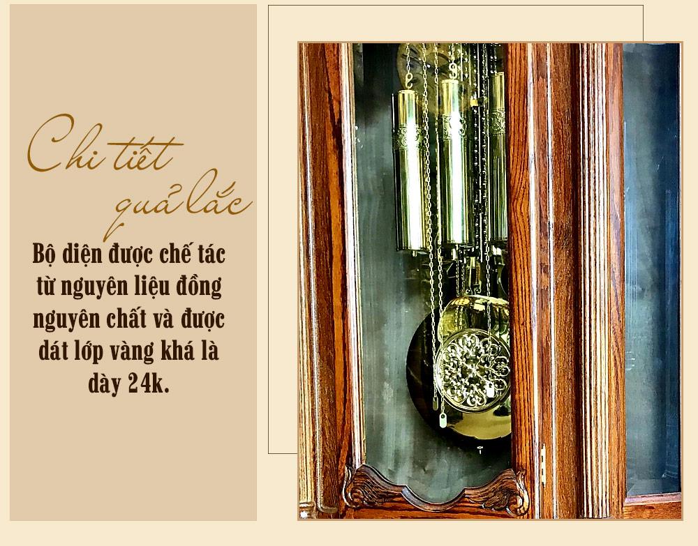 Đồng hồ cây đại DH49 kiểu lục giác gỗ sồi Mỹ máy 8 côn 3 tạ