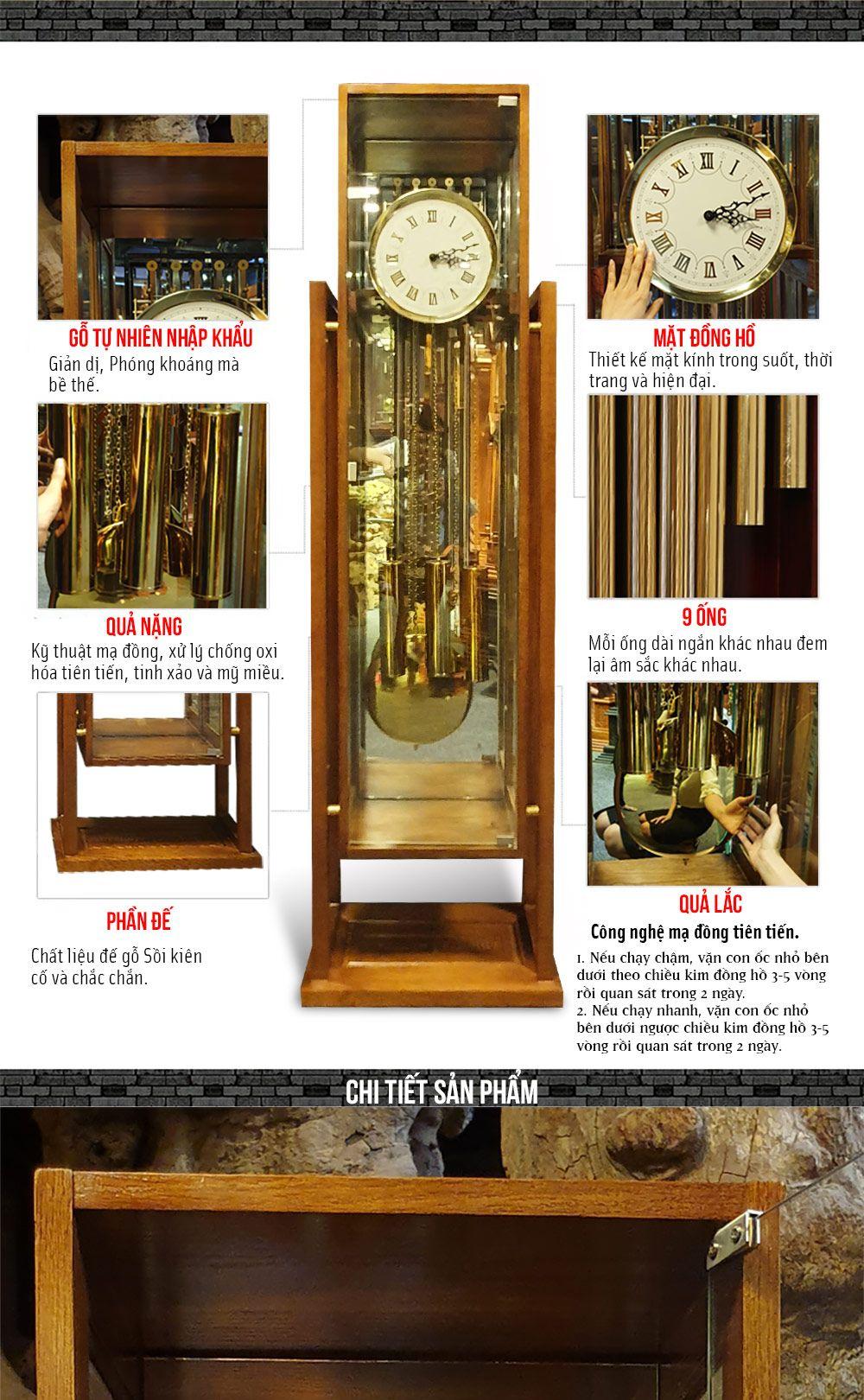 Đồng hồ tủ sáo DH50