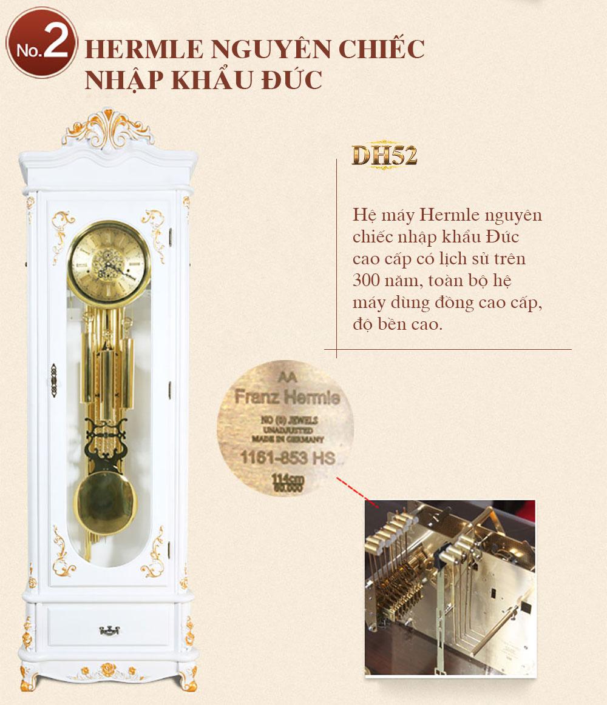 Đồng hồ cây DH52 phong cách tân cổ điển châu Âu sang trọng