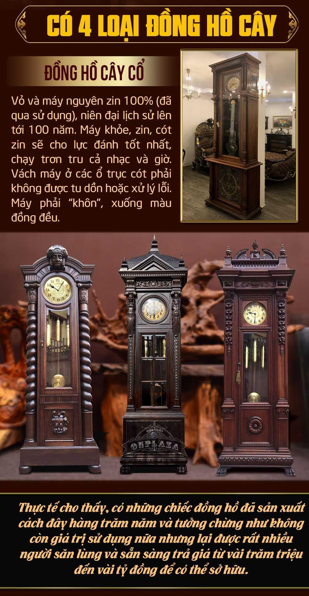 BST đồng hồ cây cổ, giả cổ, tân cổ điển cao cấp nhập khẩu tại Hà Nội