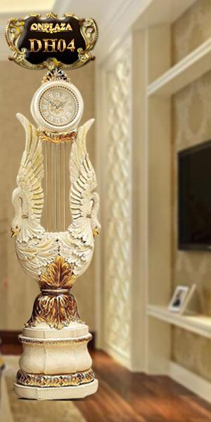 Đồng hồ cây tân cổ điển kiểu dáng thiên nga