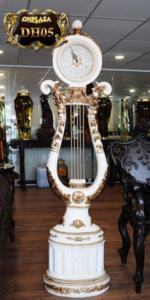 Đồng hồ cây phong cách tân cổ điển dáng thiên cầm