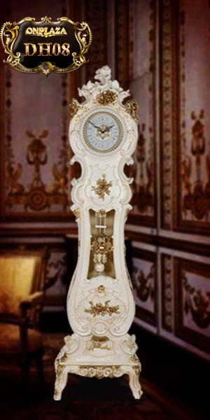 Đồng hồ cây tân cổ điển phong cách châu âu kiểu cây đàn đẹp
