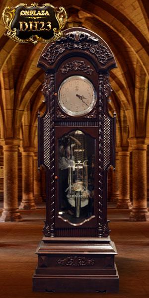 Đồng hồ cây cổ điển pháp gỗ gụ cổ điển pháp nhập khẩu đẹp