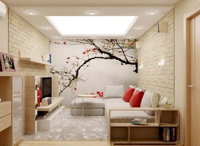 Cách bài trí phòng khách có diện tích nhỏ cực đơn giản