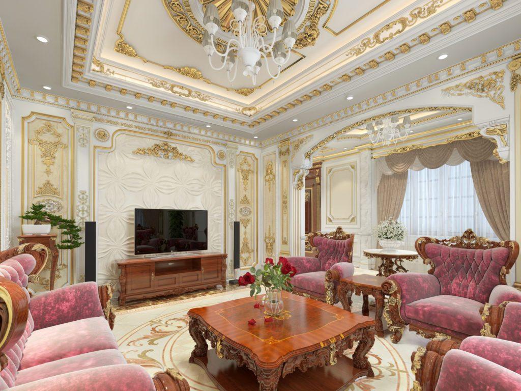 Bí quyết chọn trang trí phòng khách theo phong cách châu âu