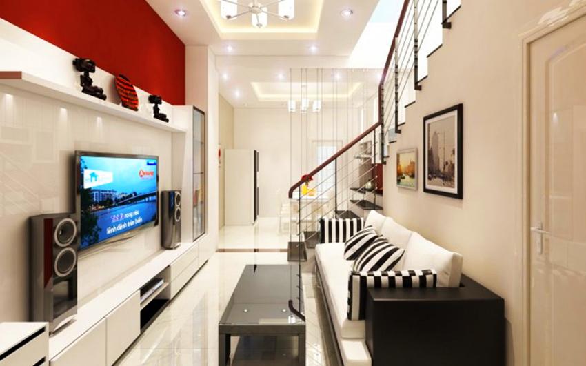 Trang trí phòng khách rộng đẹp trang hoàng