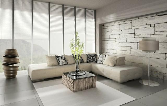 Cách trong trí phòng khách đơn giản với tông màu trắng