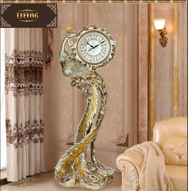 Đồng hồ cây giúp không gian phòng khách đẹp sang trọng
