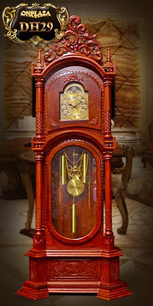 đồng hồ cây gỗ hương đỏ kiểu tứ trụ đẹp