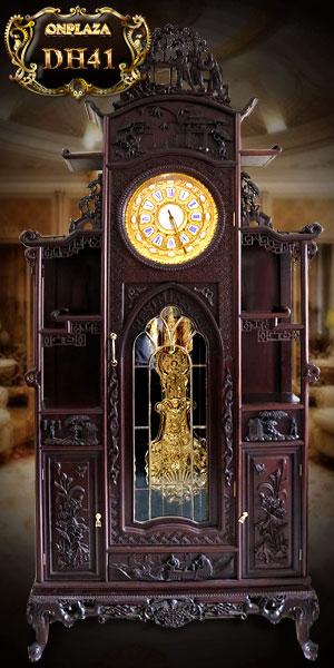 Đồng hồ cây cổ đức kiểu mái đình theo lối cổ pháp