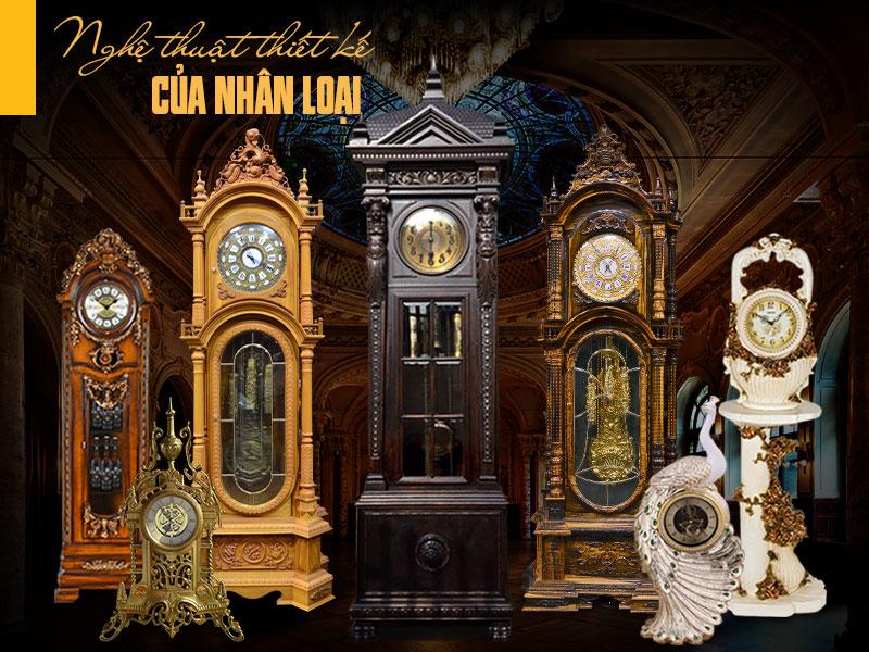BST đồng hồ cây tân cổ điển châu âu cao cấp, mẫu đồng hồ cây châu âu đẹp tại hà nội
