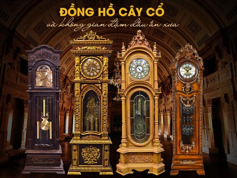 Đồng hồ cây cổ mang giá trị văn hóa, lối trang trí kiến trúc riêng của người phương tây