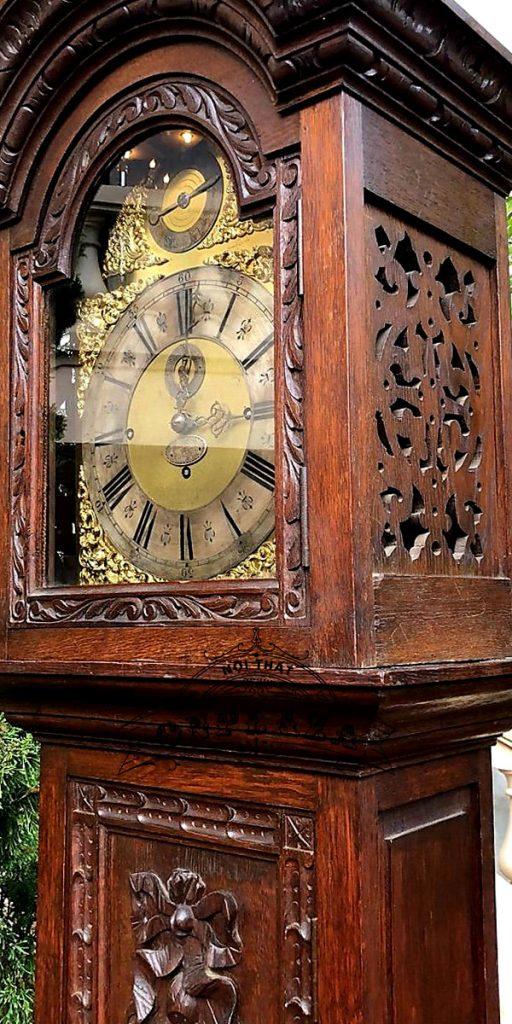 Đồng hồ tủ cây cổ của Anh chế tác thủ công 4