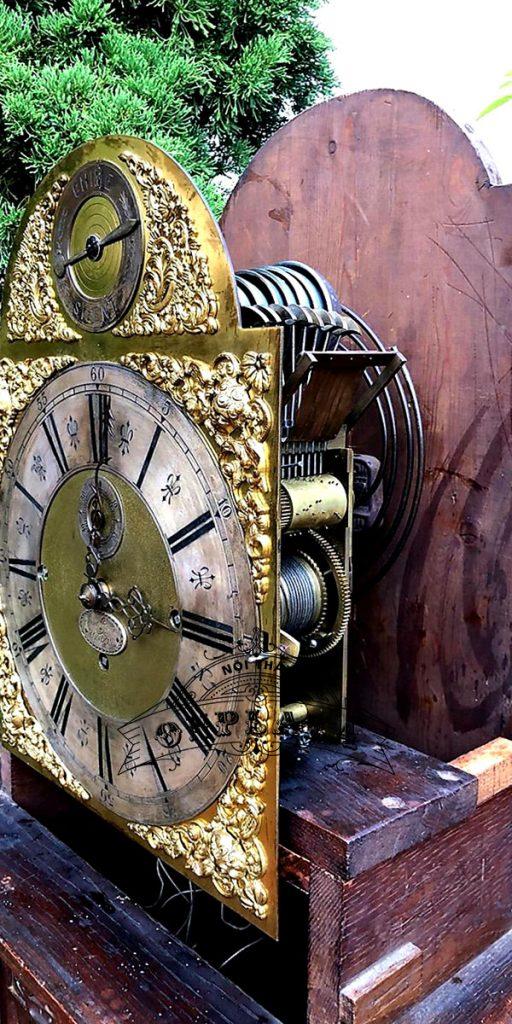 Đồng hồ tủ cây cổ của Anh chế tác thủ công 6