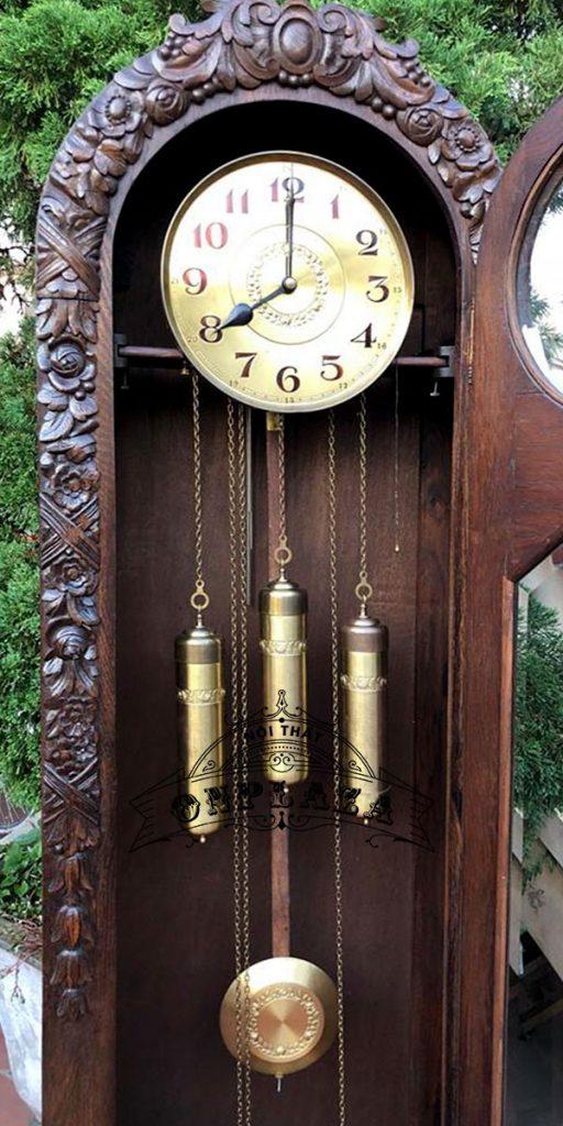 Đồng hồ tủ đầu ông sư cổ độc hãng LAUFER 5