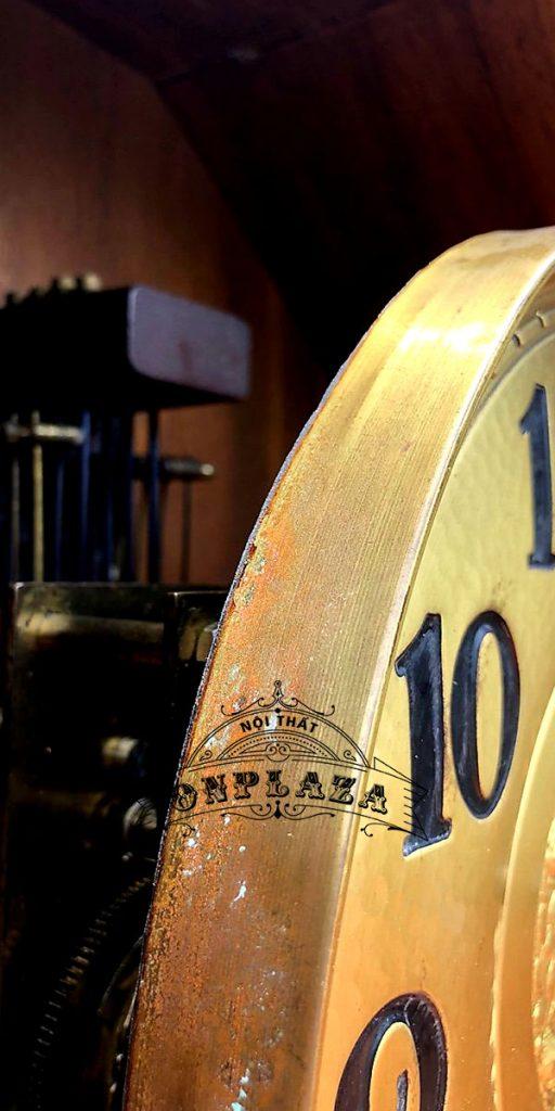 Đồng hồ tủ đầu ông sư mạ vàng cổ 12 gông 8