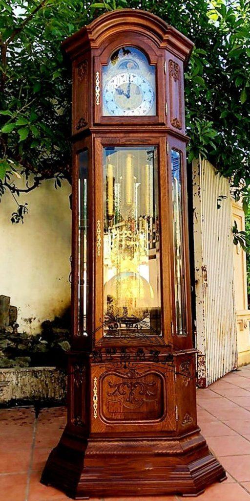 Đồng hồ tủ 3 buồng máy Kieninger sản xuất cuối thập niên 70