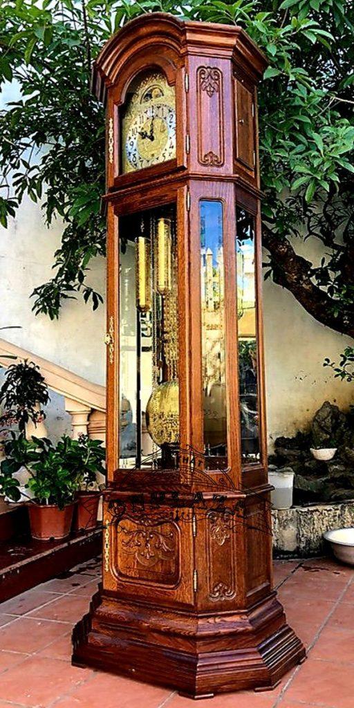 Đồng hồ tủ 3 buồng máy Kieninger sản xuất cuối thập niên 70 2