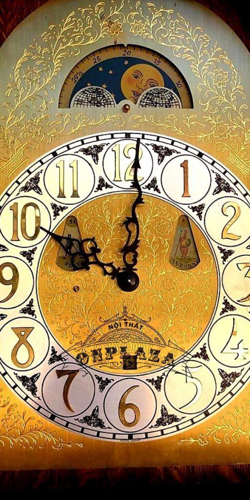 Đồng hồ tủ 3 buồng máy Kieninger sản xuất cuối thập niên 70 7