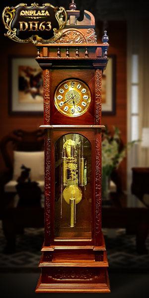 Đồng hồ hoa lá cây gỗ cẩm thị điện tử DH63