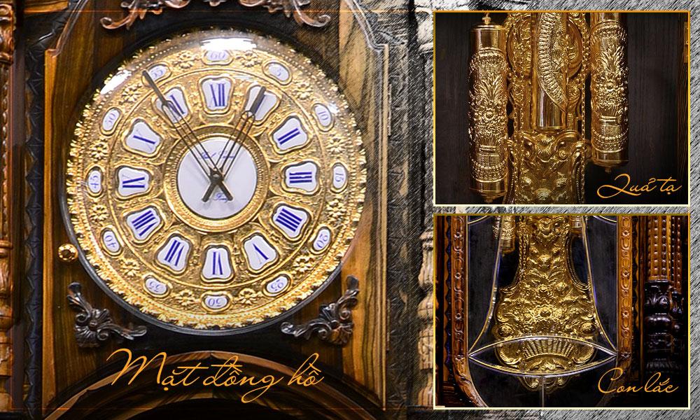 Phần mặt diện, tạ và con lắc đồng hồ