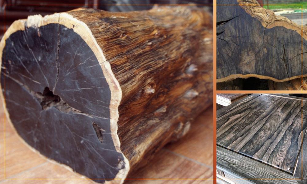 Đồng hồ cây cổ DH27 thân vỏ được làm từ gỗ mun hoa cổ lâu năm