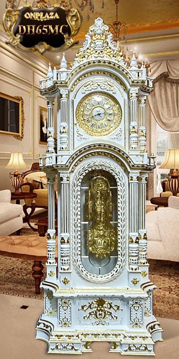Đồng hồ cây máy cổ DH65 mạ vàng 24k kiểu dáng tân cổ điển máy đại