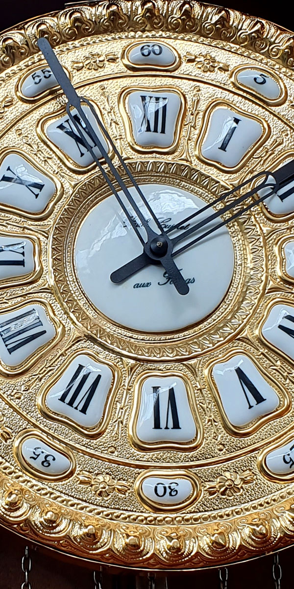Đồng hồ cây máy cổ DH64 mạ vàng 24k kiểu Pháp máy đại 3