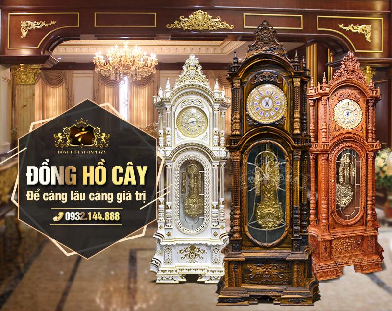 Đồng hồ cây gỗ máy cơ cổ càng để lâu càng giá trị