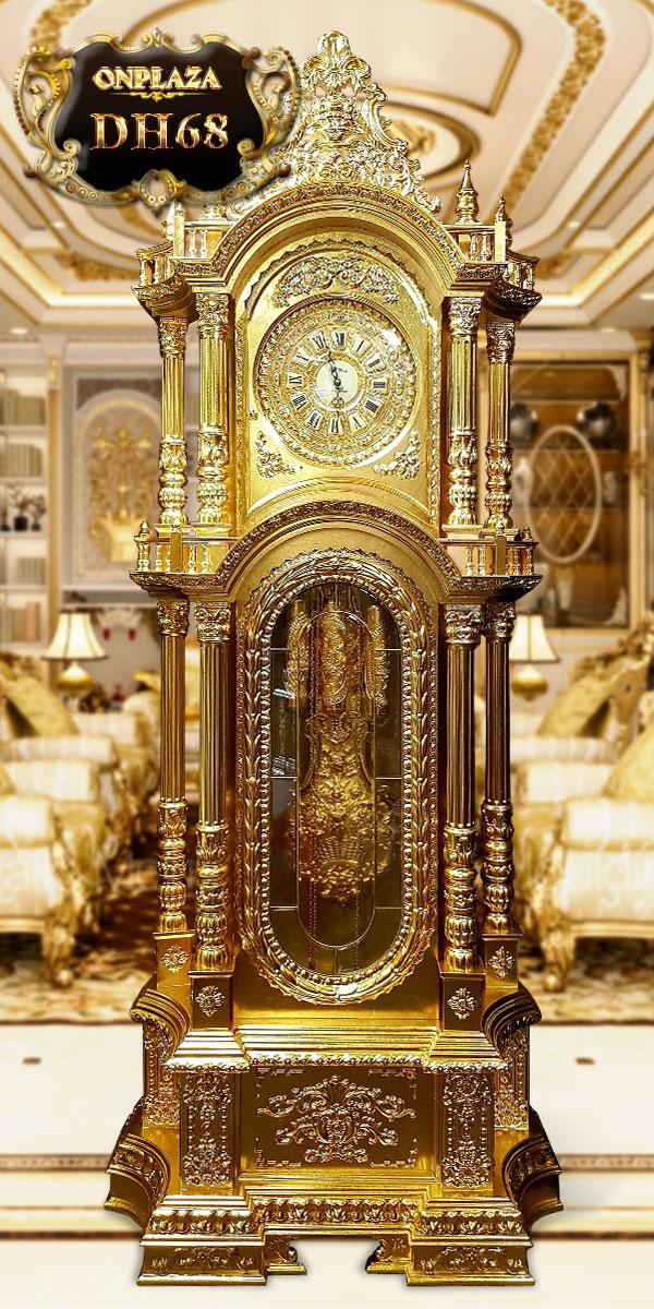 Đồng hồ cây cổ DH68 dát vàng ta 24k
